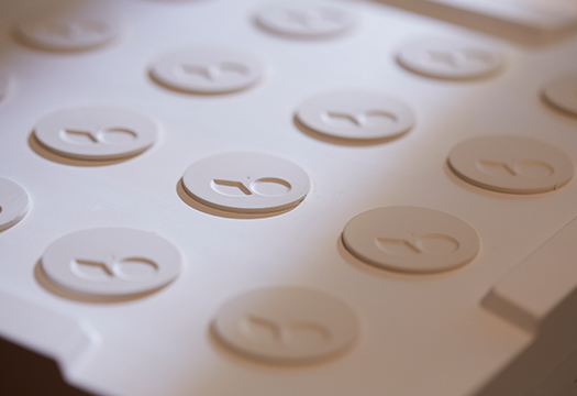 Photo of molded dials before the first firing