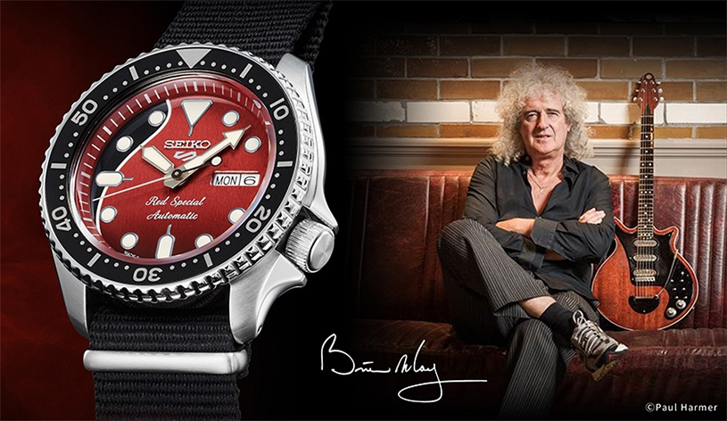 Photo of Brian May Limited Edition: SRPE83K1, Seiko 5 Sports